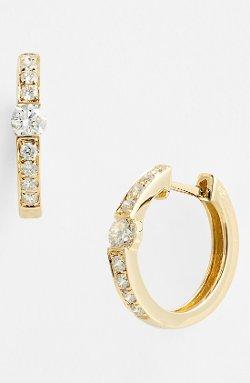 Bony Levy - Small Diamond Hoop Earrings