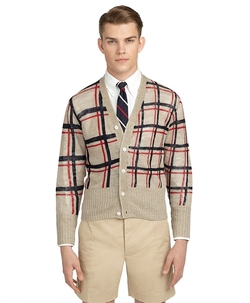 Brooks Brothers - Large Windowpane Cardigan