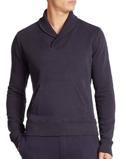 Wahts - Cotton & Cashmere Shawl-Collar Sweater