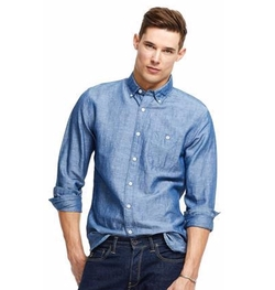 Todd Snyder - Linen/Chambray Patch Pocket Shirt