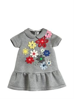 Simonetta - Floral Double Jersey Neoprene Dress