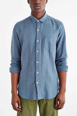 Koto  - Long-Sleeve Slub Desert Button-Down Shirt