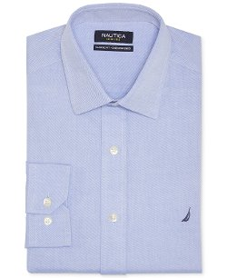 Nautica  - Blue Solid Dress Shirt