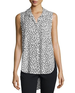 Velvet Heart  - Madden Sleeveless Polka-Dot Blouse