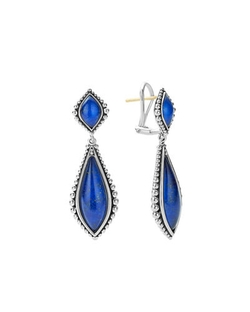 Lagos - Caviar Double-Drop Earrings