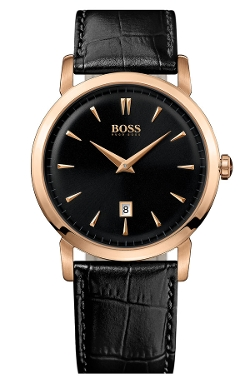 Boss Hugo Boss - Round Leather Strap Watch