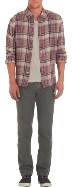 JAMES PERSE - Over Plaid Flannel Shirt
