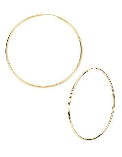 KENNETH COLE NEW YORK  - Gold-Tone Large Hoop Earrings