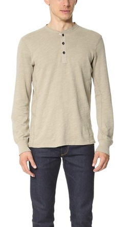 Rag & Bone Standard Issue  - Basic Henley Shirt