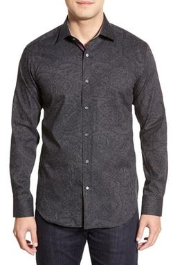 Bugatchi - Shaped Fit Paisley Sport Shirt