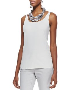 Eileen Fisher  - Silk Jersey Long Slim Camisole