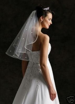 Shop Ginger Wedding - Elbow Swarovski Rhinestones Bridal Veil