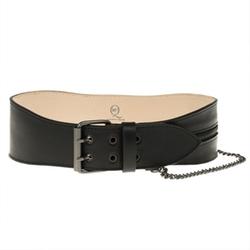 Alexander McQueen - Black Leather Chain Zip Waist Belt