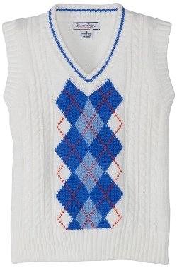 Kitestrings - Argyle Cotton V-Neck Sweater Vest