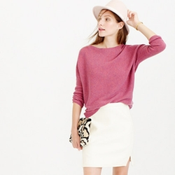 J. Crew - Double-Notch Mini Skirt