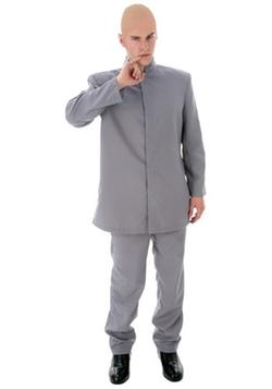 Halloween Costumes - Deluxe Adult Gray Suit Costume