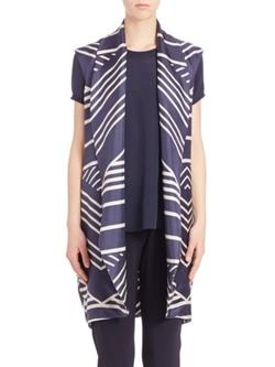 Pauw -  Printed Silk Vest
