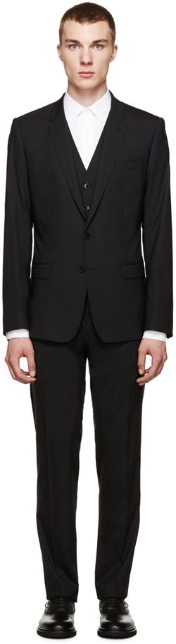 Dolce & Gabbana - Black Martini Three-Piece Suit