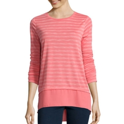 Stylus - Shadow-Striped Layered T-Shirt
