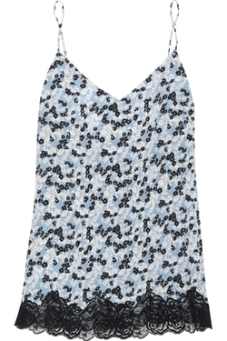 Stella Mccartney  - Ellie Leaping Printed Stretch Silk Camisole Top