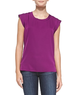 3.1 Phillip Lim   - Cap-Sleeve Muscle Top