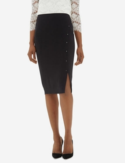 The Limited - High Waist Studded Pencil Skirt