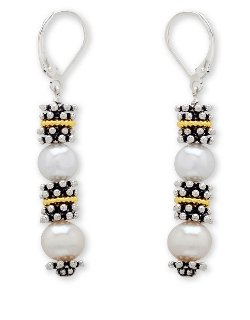 Lord & Taylor  - Sterling Silver And Freshwater Pearl Earrings