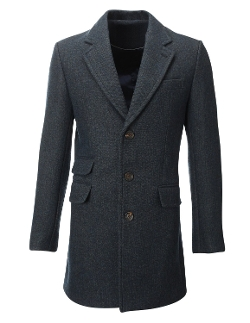 Flatseven - Winter Tweed Coat Long Jacket