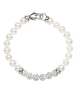Honora Style - Freshwater Pearl Baby Bracelet with Crystal Beads