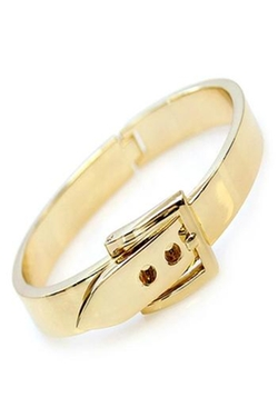 Humanity - Gold Buckle Bangle Bracelet
