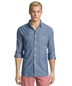 Grayers - Japanese Blue Selvedge Chambray Button Front Top