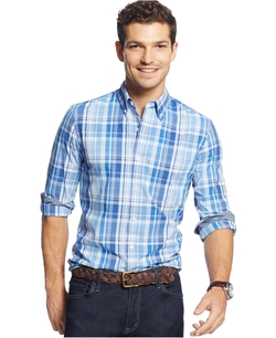 Club Room - Long-Sleeve Plaid Shirt