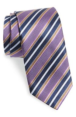 J.Z. Richards  - Stripe Silk Tie