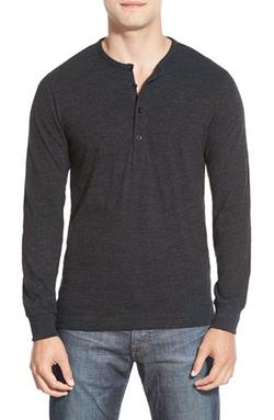 Bonobos  - Long Sleeve Slub Jersey Henley Shirt