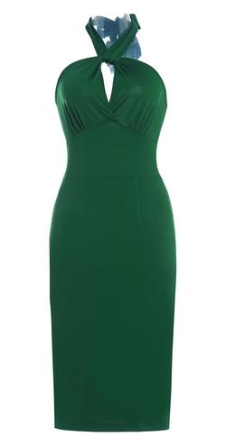 Js Fashion Vintage Dress - Halter Backless Bodycon Dress