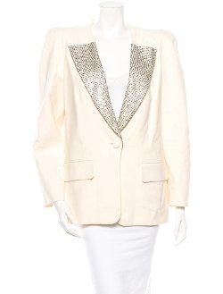 Ivory Chloé - Chloé Embellished Blazer