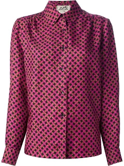 Hermés Sport Vintage - Patterned Blouse