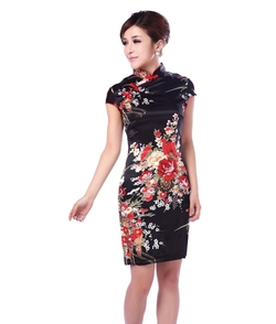 YueLian - Chinese Evening Cheongsam Short Qipao Dress