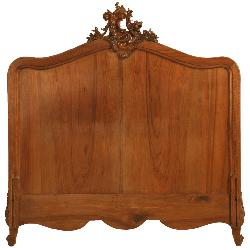 OLDPLANK.com - Opulent Antique French Rococo/Louis XV Walnut Headboard, Frame or ???