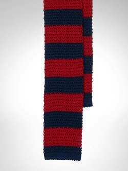 Ralph Lauren - Stripe Knit Silk Tie