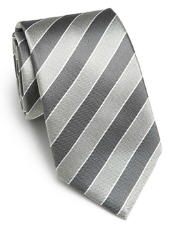 Saks Fifth Avenue Collection  - Striped Silk Tie