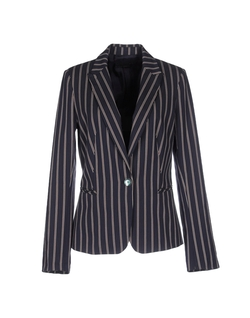 Soallure - Single Breasted Stripe Blazer
