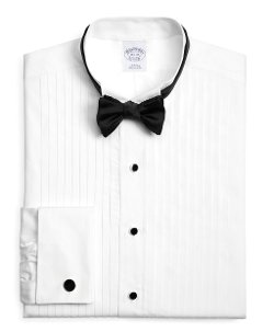 Brooks Brothers - Regent Fit Ten-Pleat Wing Collar Formal Tuxedo Shirt