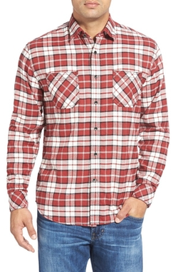 James Campbell  - AnjuPlaid Regular Fit Twill Sport Shirt
