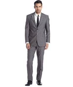 Yves Saint Laurent - Charcoal Tic Wool Two-Button Suit