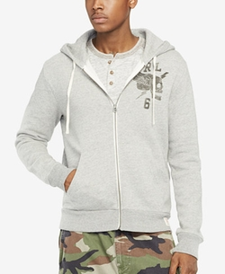 Denim & Supply Ralph Lauren - Printed Fleece Full-Zip Hoodie