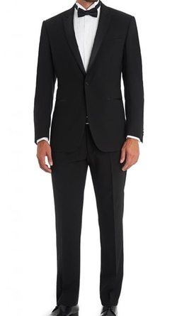 Amorstore - Satin Peak Lapel Suit