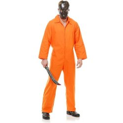 Charades  - Psycho Inmate Orange Adult Costume
