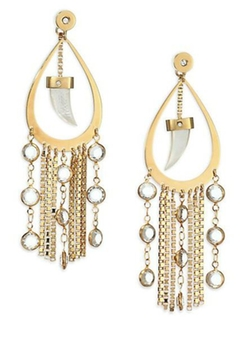 House of Lavande  - Fringe Teardrop Earrings
