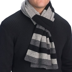 Forte Cashmere - Striped Double Layer Cashmere Scarf